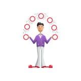 Illustration juggler putting Royalty Free Stock Photo