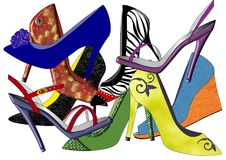 Shoe Collection I Stock Images