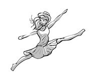 Illustration of a jumping girl Royalty Free Stock Photos