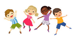 An illustration of jumping kids Royalty Free Stock Image