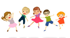 An illustration of jumping kids Stock Photography