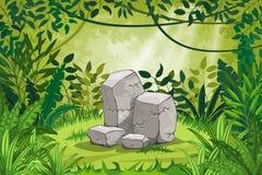 Illustration jungle landscape Stock Image