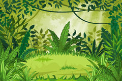 Illustration jungle landscape Royalty Free Stock Images