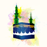 Illustration of Kaaba, Mekkah. Royalty Free Stock Images