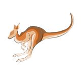 Illustration of a kangaroo. Stock Images