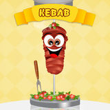 Illustration of kebab Stock Photo
