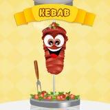 Illustration of kebab Stock Photo