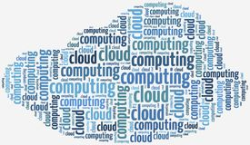 Illustration with keywords related to cloud computing Stock Images