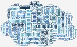 Illustration with keywords related to cloud computing Royalty Free Stock Photography