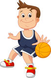 Illustration of kid playing basketball Royalty Free Stock Photo
