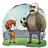 Illustration of a kid with soccer uniform Royalty Free Stock Photography