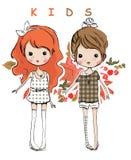 Illustration  kids Stock Images