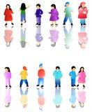 Illustration of kids Stock Photos