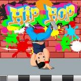 Kids dancing hip hop. Illustration of kids dancing hip hop Royalty Free Stock Photos