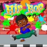 Kids dancing hip hop. Illustration of kids dancing hip hop Stock Photo
