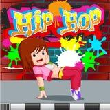 Kids dancing hip hop. Illustration of kids dancing hip hop Royalty Free Stock Photography