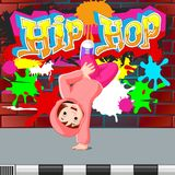 Kids dancing hip hop. Illustration of kids dancing hip hop Royalty Free Stock Photo