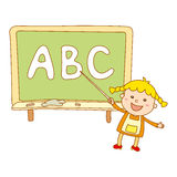 Illustration of Kids Holding Giant Letters Royalty Free Stock Image