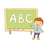 Illustration of Kids Holding Giant Letters Royalty Free Stock Photography