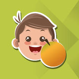 Illustration of kids menu, vector design, food and nutrition related Royalty Free Stock Images