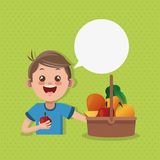 Illustration of kids menu, vector design, food and nutrition related Royalty Free Stock Photo