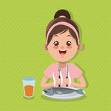 Illustration of kids menu, vector design, food and nutrition related Stock Image
