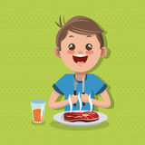 Illustration of kids menu, vector design, food and nutrition related Stock Photography