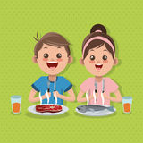 Illustration of kids menu, vector design, food and nutrition related Stock Photo