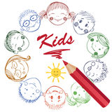 Illustration of Kids Royalty Free Stock Images