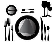 Illustration of kitchen set Stock Photo