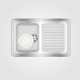 Illustration of kitchen sink Stock Images