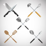 Illustration of kitchen tools, editable vector Stock Image