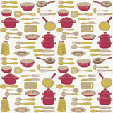 Illustration of kitchen wares and utensils Stock Photos