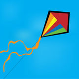 Illustration of a kite. In the wind Stock Photography