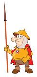 Illustration of a Knight. Cartoon Character Royalty Free Stock Photography