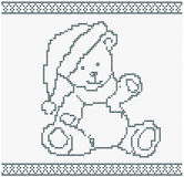 Illustration of a Knitted Bear Royalty Free Stock Image