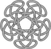 Illustration of a Knot. A Black and White Illustration of a Knot Royalty Free Stock Photo