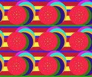 Illustration kreist Streifen von verschiedenen hellen Farben ein, um t einzustellen Lizenzfreie Stockfotos