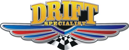 Drift label Stock Image