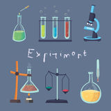 Illustration of the laboratory. Experiment Chemical. Stock Photos