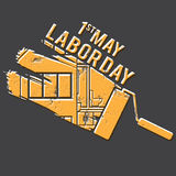 Illustration for Labour Day with paint roller. Vector Stock Photo
