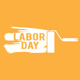 Illustration for Labour Day with paint roller. Vector Royalty Free Stock Images
