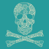 Illustration of lacy skull Royalty Free Stock Image