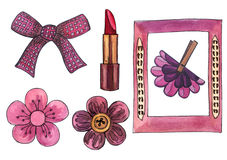 Illustration of Lady's accessories Royalty Free Stock Images