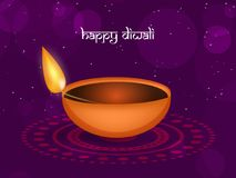Illustration of hindu festival Diwali background. Illustration of lamp on  the occasion of hindu festival Diwali Royalty Free Stock Image