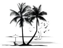 Illustration of a landscap Royalty Free Stock Photo