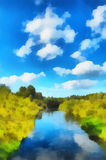 Illustration, landscape Stock Photography