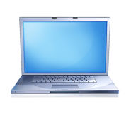 Illustration of a laptop computer, viewed from the front. Stock Photos