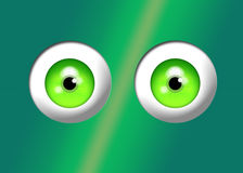 Illustration Large Irish Green Eyes- Humor Stock Image