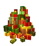 Illustration of large pile of gifts royalty free illustration